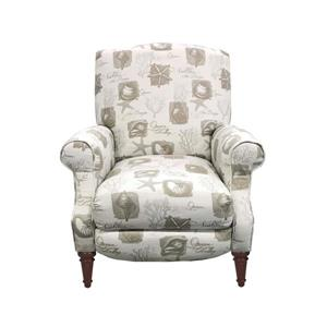 Fauteuil inclinable Sunset Trading, motif de coquillage, 38 po x 32 po, beige