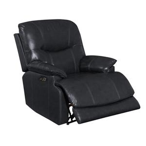 Sunset Trading Baltic Recliner with Headrest and Lumbar Support - Black