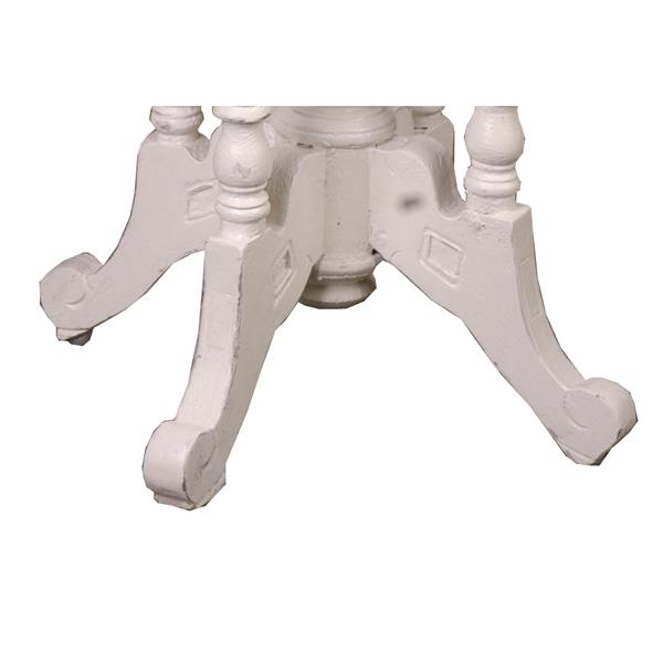 Sunset Trading Shabby Chic Cottage End Table with Drawer - 19.75-in x 25.25-in - Antique White