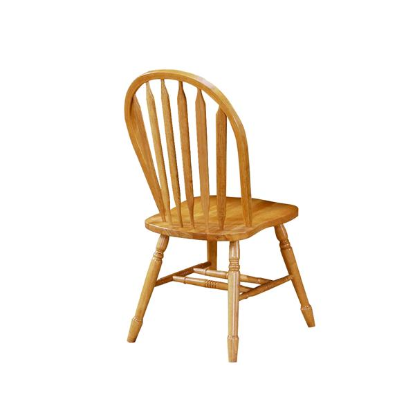 Sunset Trading Oak Selections Dining Chair - 38-in x 20-in - Light Oak - Set of 2