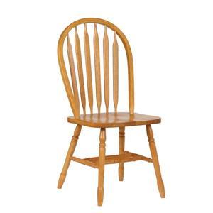 Chaise de salle à manger Oak Selections de Sunset Trading, type arrowback, 38 po x 20 po, chêne clair, ens. de 2