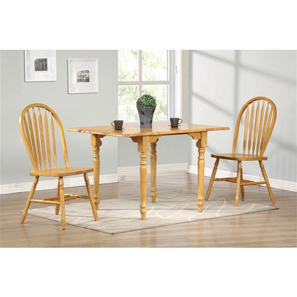 Sunset Trading Oak Selections Drop Leaf Dining Set - Set of 3 - Light Oak