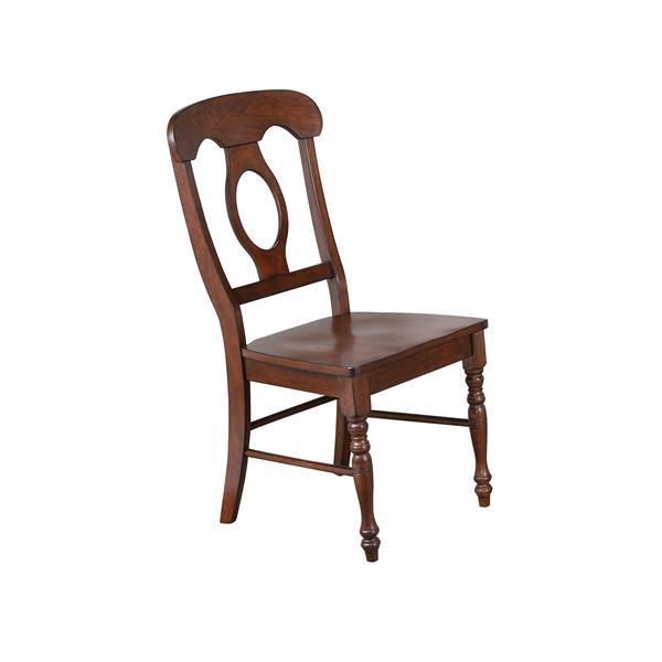 Ensemble de salle à manger Andrews de Sunset Trading, 3 pièces, table à rabat, marron foncé