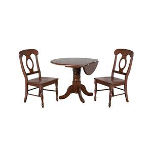 Sunset Trading Andrews Drop Leaf Dining Set - Set of 3 - Dark Chestnut