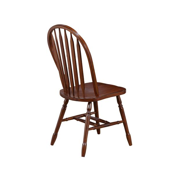 Sunset Trading Andrews Dining Chair - 38-in x 20-in - Chestnut - Set of 2