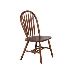 Chaise de salle à manger Andrews de Sunset Trading, 38 po x 20 po, brun, ens. de 2