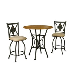 Sunset Trading Sunset Dart Dining Dining Set - Set of 3 - Bronze