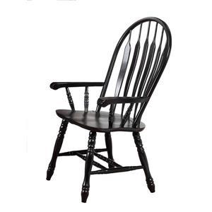 Chaise de salle à manger Black Cherry Selections de Sunset Trading, 41 po x 21.5 po, noir antique