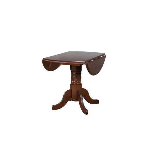 Sunset Trading Andrews Dining Set - Leaf Table - Set of 3 - Dark Chestnut