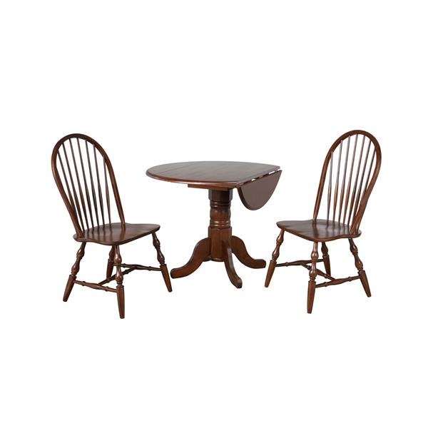 Ensemble de salle à manger Sunset Trading Andrews, 3 pièces, châtaigne foncé