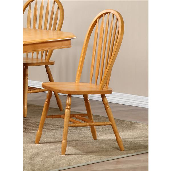 Sunset Trading Oak Selections Arrowback Dining Chair - 38-in x 20-in - Light Oak - Set of 2