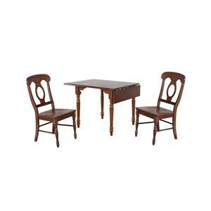 Ensemble de salle à manger rectangulaire Andrews de Sunset Trading, 3 pièces, marron foncé