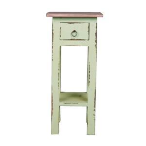 Table d'appoint Shabby Chic Cottage de Sunset Trading, 11,5 po x 25,5 po, sarcelle antique
