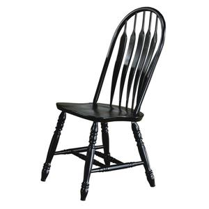 Sunset Trading Black Cherry Selections Arrowback Dining Chair - 41-in x 20.5-in - Antique Black - Set of 2