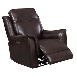 Sunset Trading Bryson Recliner with Headrest and Lumbar Support - Espresso