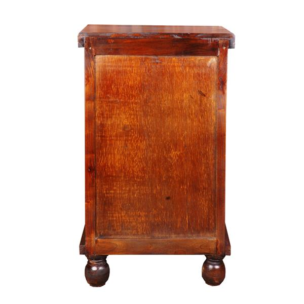 Sunset Trading Shabby Chic Cottage End Table with Drawer - 17-in x 29.75-in - Glossy Brown