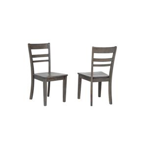 Sunset Trading Shades of Grey Dining Chair - 36-in x 18-in - Grey - Set of 2
