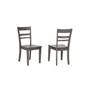 Chaise de salle à manger Shades of Grey de Sunset Trading, 36 po x 18 po, gris lustré, ens. de 2