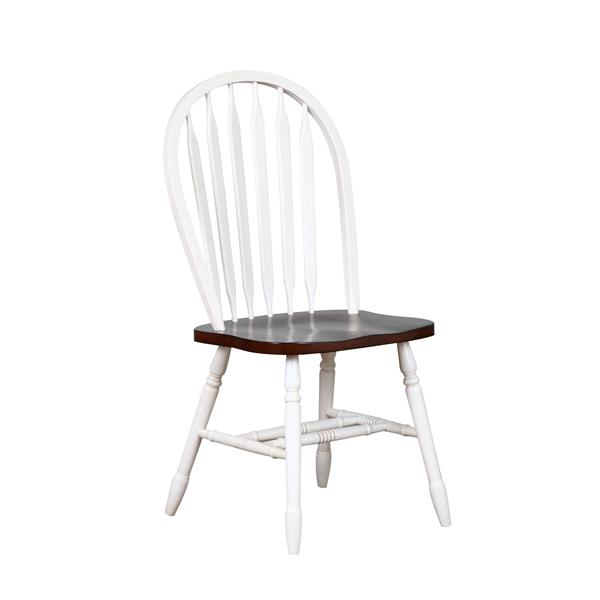 Sunset Trading Andrews Dining Set with Arrowback Chairs - Set of 3 - Antique White