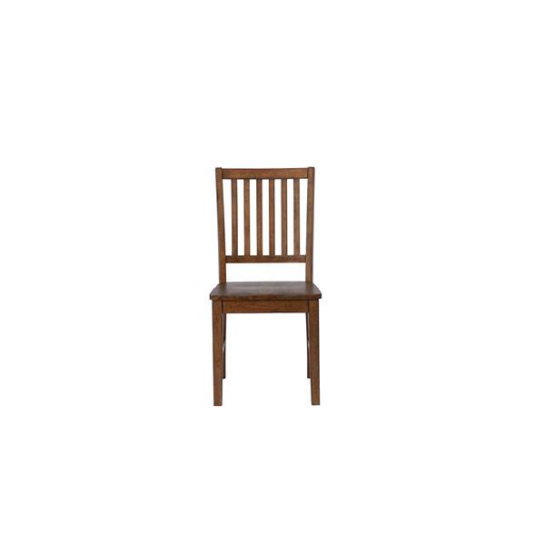 Chaise de salle à manger Simply Brook de Sunset Trading, 36 po x 17.5 po, marron, ens. de 2