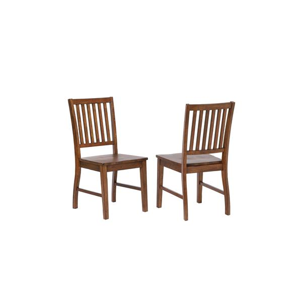 Sunset Trading Simply Brook Dining Chair - 36-in x 17.5-in - Brown - Set of 2
