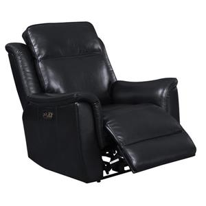 Sunset Trading Bryson Recliner with Headrest and Lumbar Support - Black