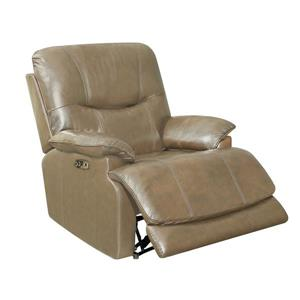 Sunset Trading Baltic Recliner with Headrest and Lumbar Support - Tan