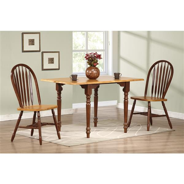 Sunset Trading Oak Selections Dining Set - Set of 3 - Nutmeg Brown/Light Oak