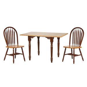 Ensemble de salle à manger Oak Selections de Sunset Trading, 3 pièces, chêne foncé
