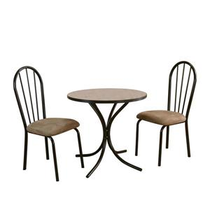 Sunset Trading Linen Dining Dining Set - Set of 3 - Brown