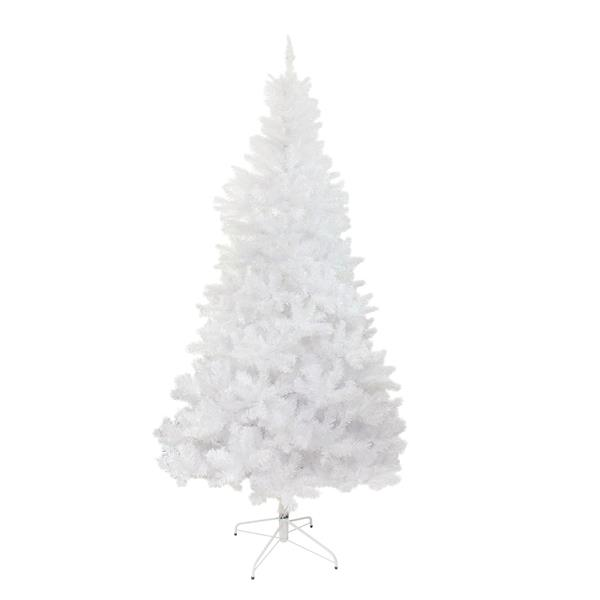 Northlight Spruce Full Artificial Christmas Tree - 7.5-ft x 52-in - White