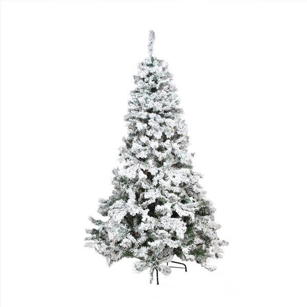 Northlight Pine Medium Artificial Christmas Tree - Heavily Flocked - 7.5-ft