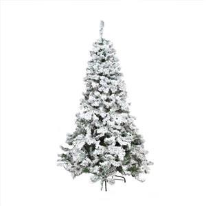 Northlight Pine Medium Artificial Christmas Tree - Heavily Flocked - 7.5-ft
