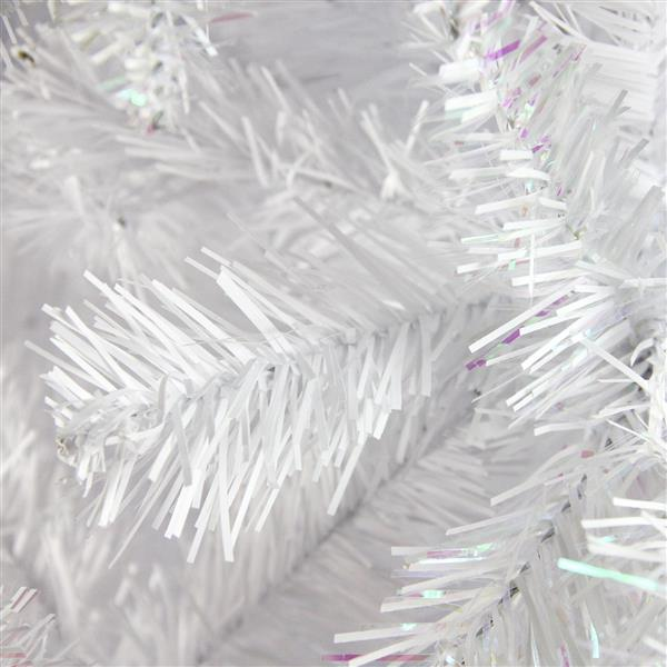 Northlight Artificial Spruce Christmas Tree - 9.5-ft x 64-in - White Glimmer