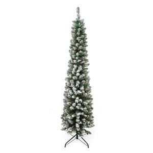 Northlight Flocked Green Pine Pencil Artificial Christmas Tree - 6-ft x 20-in