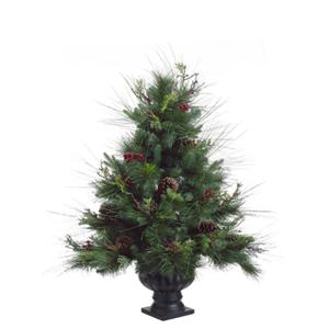 Allstate Potted Pine Christmas Tree with Pine Cones & Berries - 3-ft