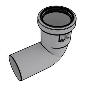 Rinnai  2-in Condensing 90° Vent Elbow - Plastic