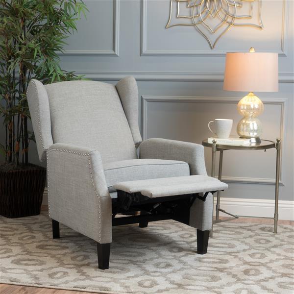 Best Selling Home Decor Scott Traditional Recliner - Light Gray