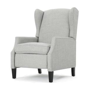Fauteuil inclinable en tissu traditionnel Scott de Best Selling Home Decor, gris pâle