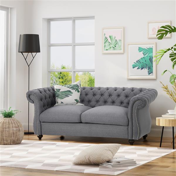 Best Selling Home Decor Somerville Loveseat Sofa - Grey
