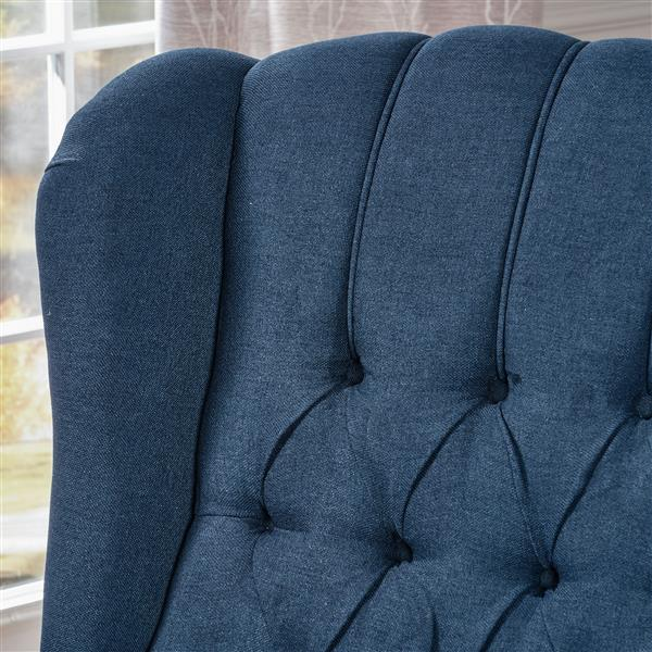 Best Selling Home Decor Estelle Fabric Recliner - Blue