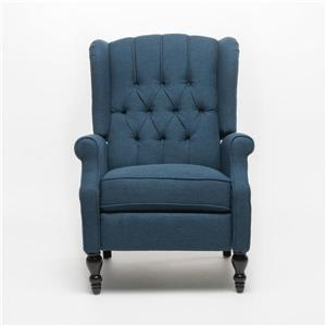 Best Selling Home Decor Estelle Fabric Recliner - Blue