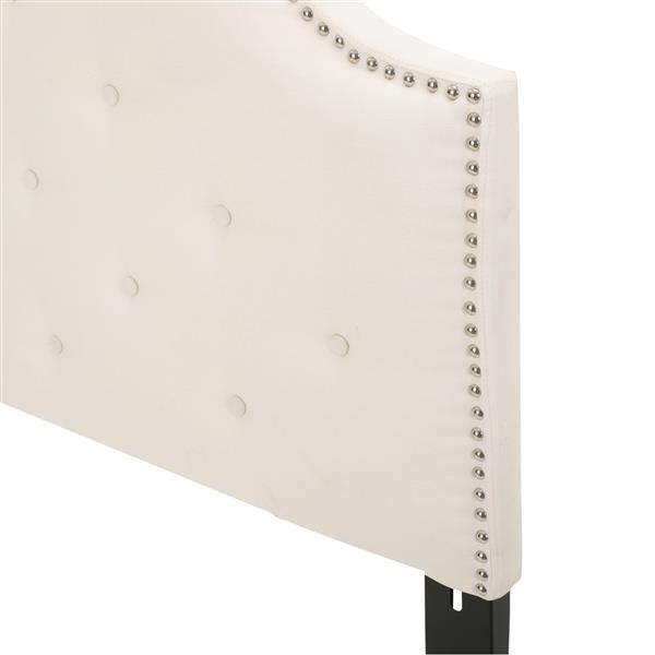 Tête de lit en tissu Topanga de Best Selling Home Decor, double ou grand lit, blanc