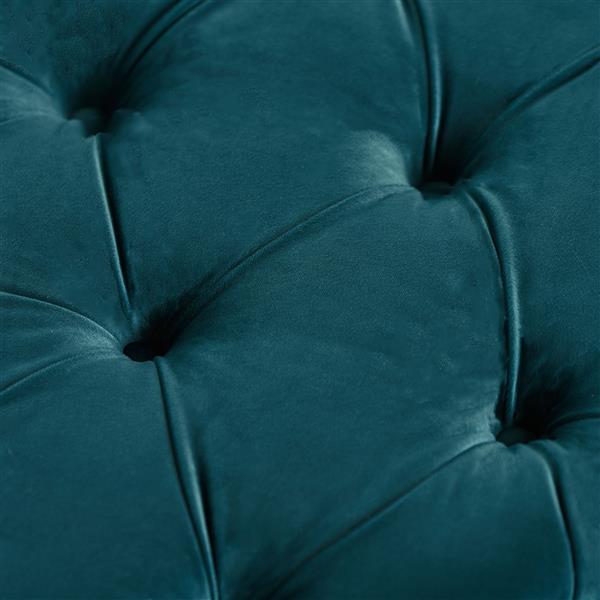 Best Selling Home Decor Cassie Ottoman - Dark Teal Velvet
