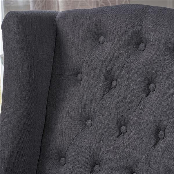 Best Selling Home Decor Elise High Back Fabric Accent Chair - Dark Gray