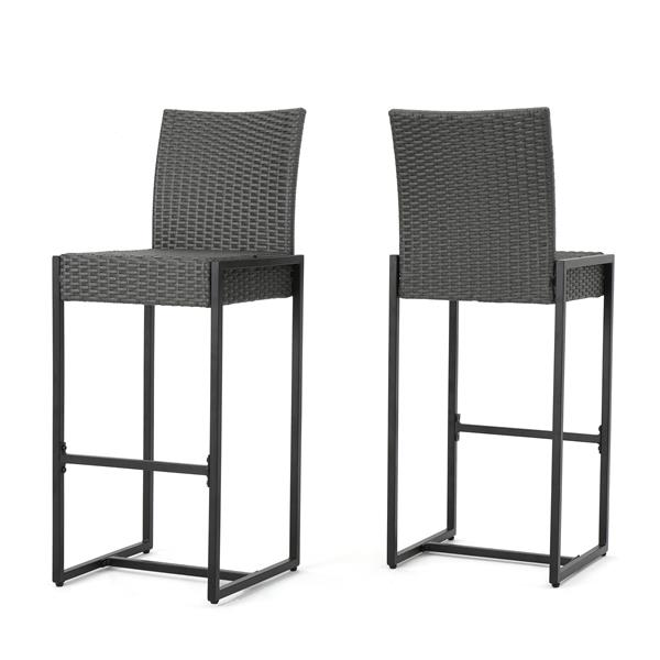 Best Selling Home Decor Candy Wicker Bar Stool - Gray ...