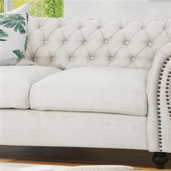 Best Selling Home Decor Somerville Loveseat Sofa - Off-White