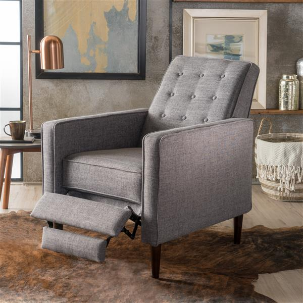 Fauteuil inclinable moderne en tissu Madsion de Best Selling Home Decor, gris