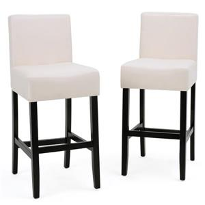 Best Selling Home Decor Fern Fabric Bar Stool - Off-white - Set of 2