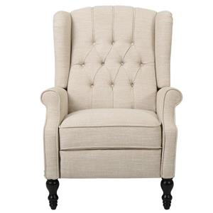 Best Selling Home Decor Estelle Fabric Recliner - Cream